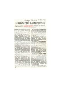 Nürnberger Kulturpreis 2019